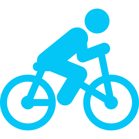 icona bicicletta azzurro