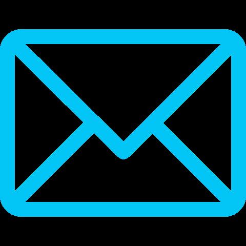 icona email azzurra