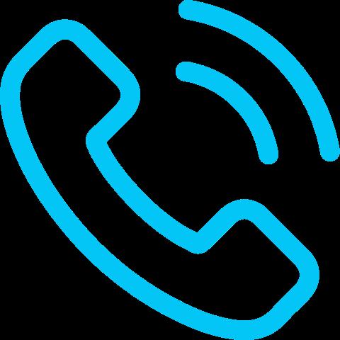 icona telefono azzurra