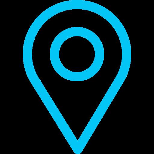 icona pin map azzurra