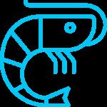 icona gambero azzurro