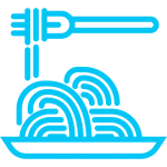 icona pasta azzurro