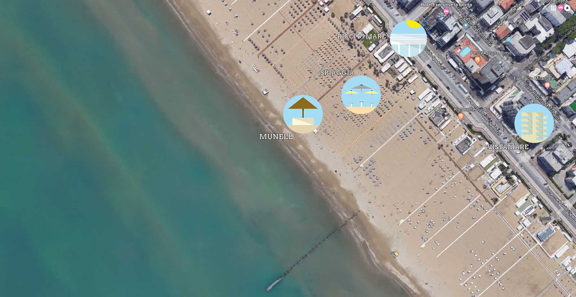 mappa google satellite bagni ricci